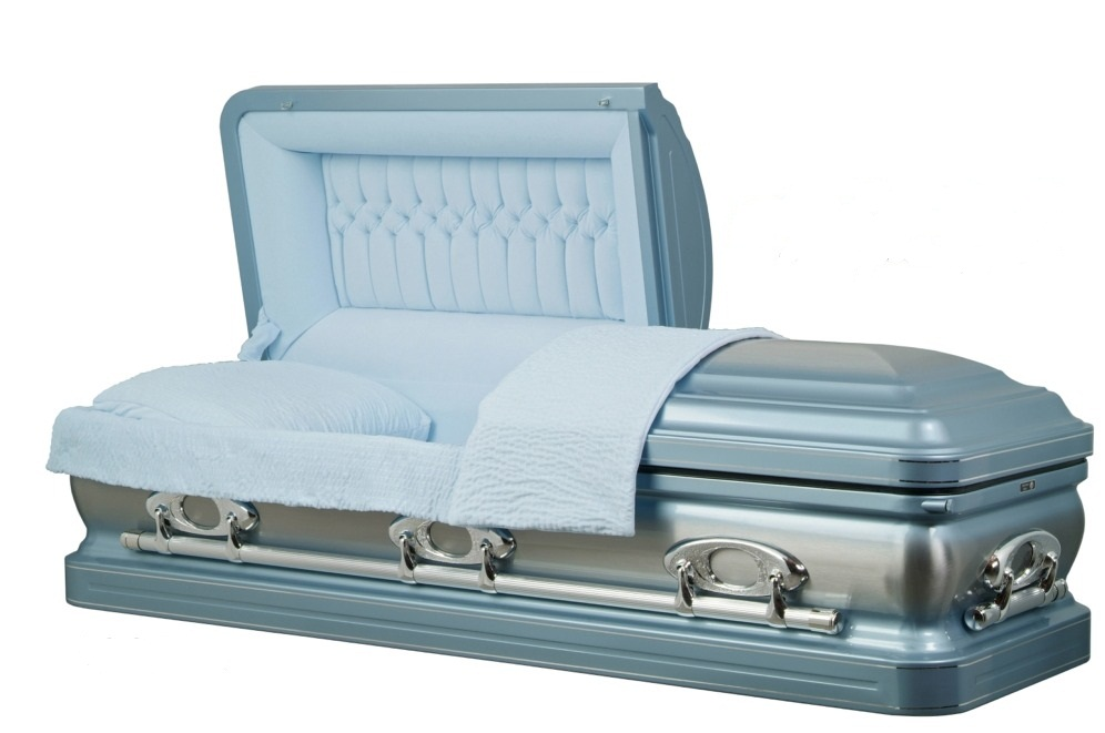 Picture of Stainless Steel - Horizon Blue Silver Casket Casket