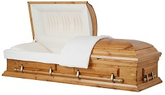 Casket: Solid Country Pine Wood Casket