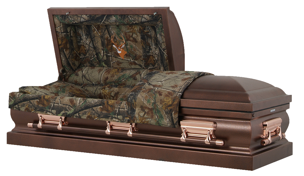 Picture of Hunters Camouflage & Bronzed Casket Casket