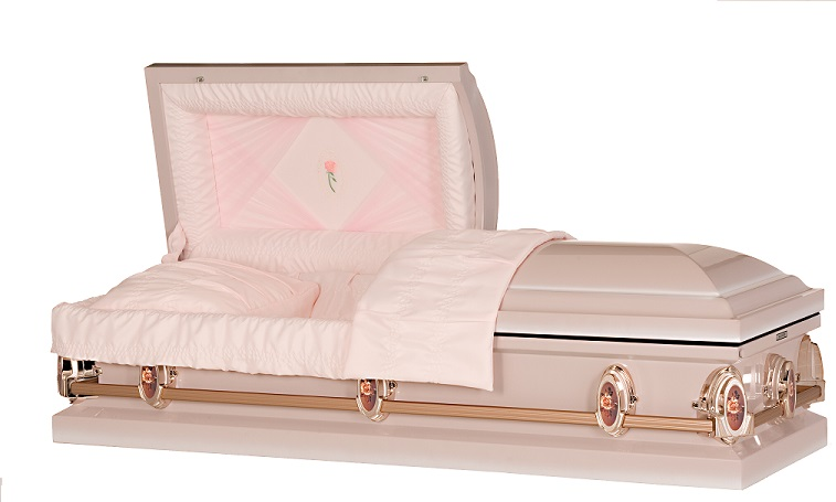 Picture of Classic Pearl Rose Steel Casket Casket