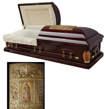 Picture of Golden Memory Top Choices and Keepsake Options Casket