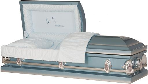 Picture of SkyBlue Going Home Steel Casket Casket