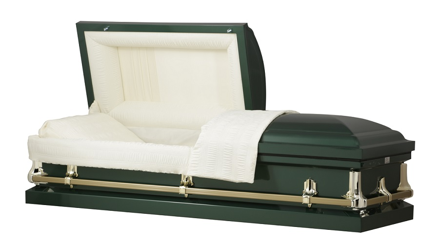 Picture of American Hunter Green Steel Casket Casket