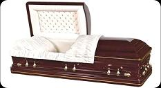 Casket: Presidential Golden Trim Solid Cherry Casket