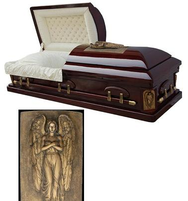Picture of Golden Memory Casket - ArchAngel Casket