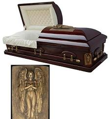 Casket: Golden Memory Casket - ArchAngel Keepsakes