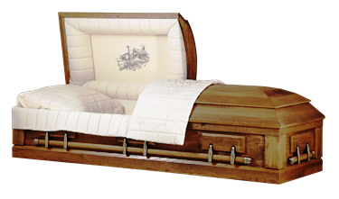 Casket: Rustic Barnwood Oak with Duck Cloth