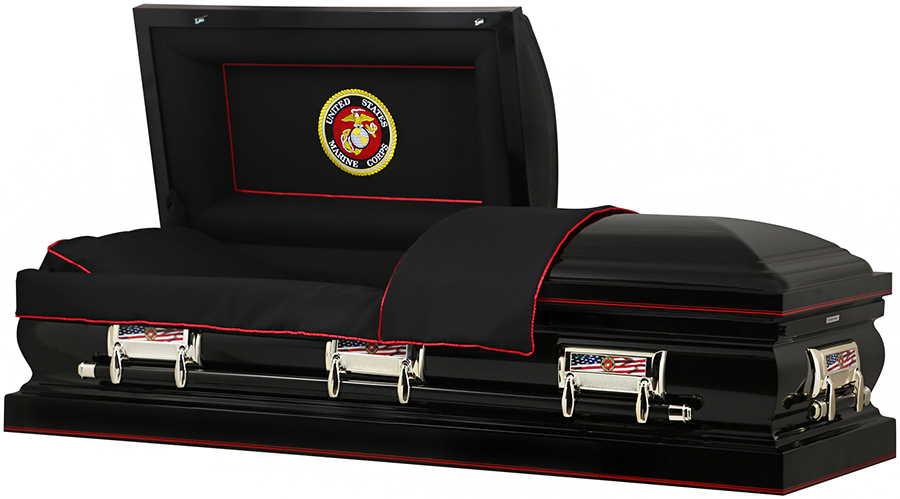 Picture of US MARINE CORP Steel - 32In OVERSIZE Casket