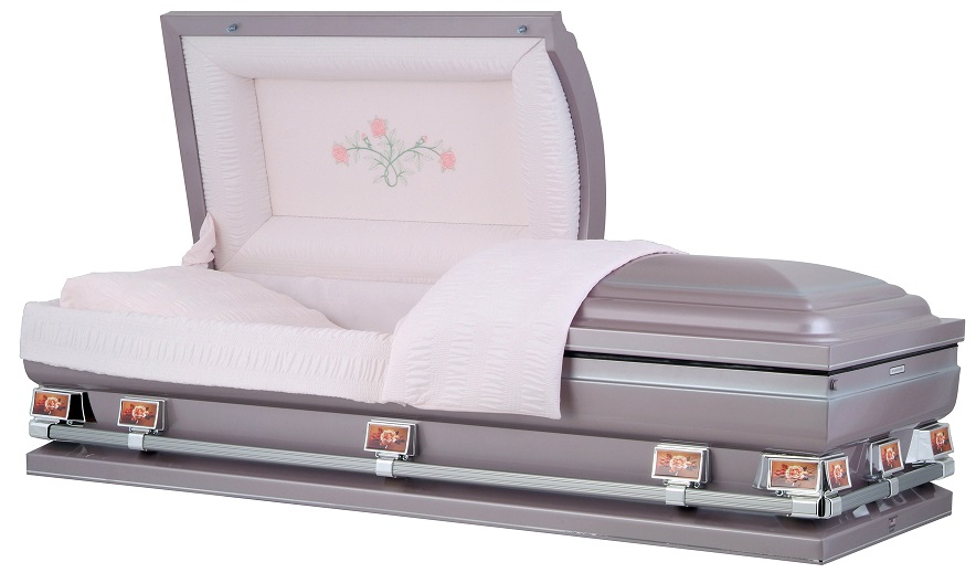 Picture of Orchard Silver Triple Rose OverSize Casket Casket