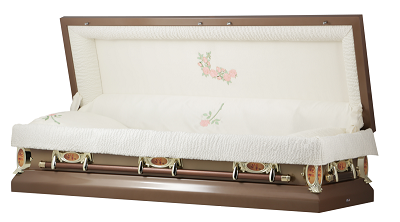 Casket: Copper Rose Full Couch Casket