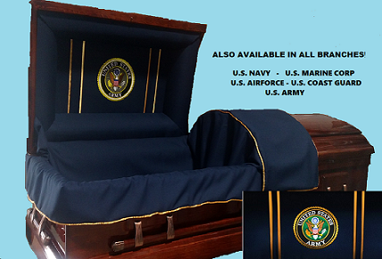 Casket: Veterans Honor & Tribute - Solid Poplar Wood