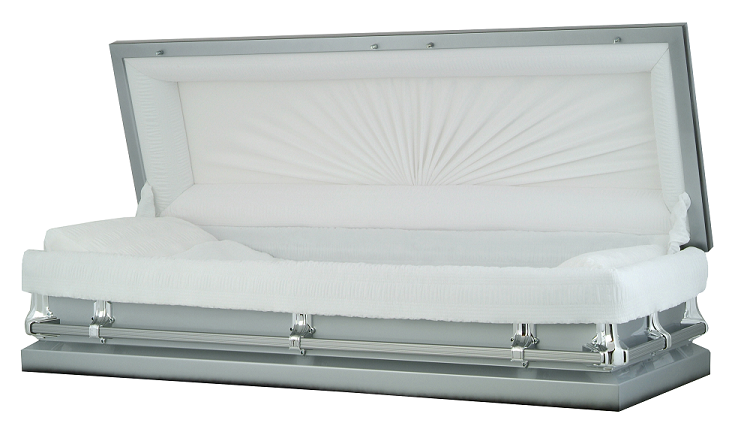 Picture of Silver Steel Full Couch Casket Casket