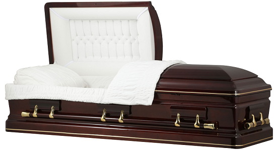 Casket: ROYAL CUMBERLAND CHERRY WOOD Casket