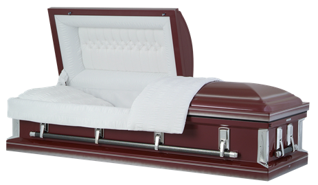 Picture of Burgandy Finish American Steel Casket Casket