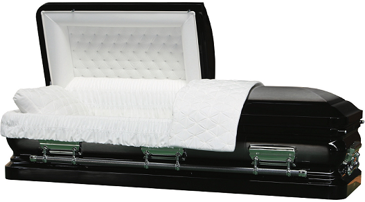 Casket: EBONY BLACK ROYALE Steel Casket