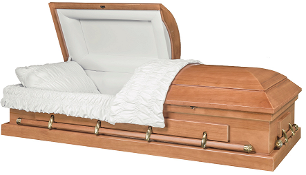 Casket: CONTINENTAL LIGHT FINISHED PAULOWINA Wood Casket