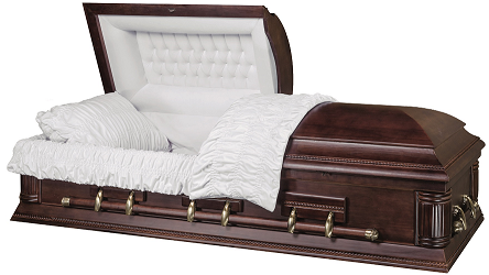 Casket: The CONTINENTAL solid Paulownia Wood Casket
