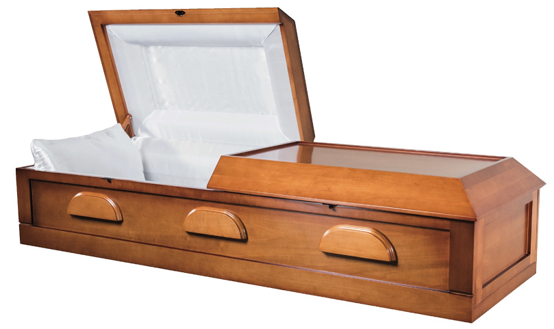 Picture of Cremation Poplar Veneer Wood Casket - KIT or ASSEMBLED Casket