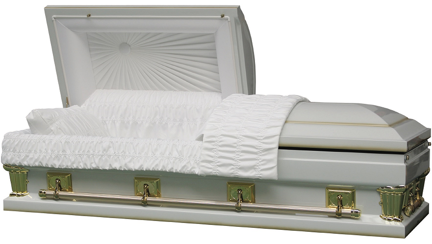 Picture of Franklin White Oversize - interior in either 27.5 in or 30.5 in size Casket