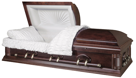 Casket: HAMILTON DARK FINISHED SOLID WOOD Casket