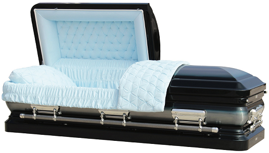 Casket: LIBERTY MIDNIGHT BLUE ROYALE Steel Casket