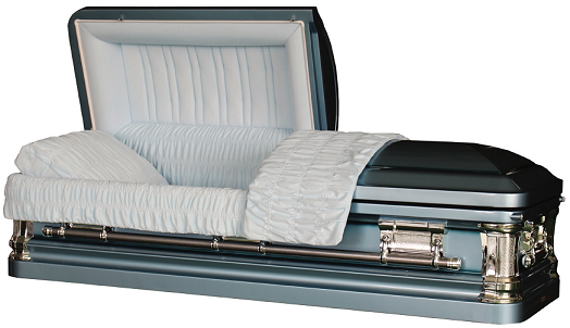 Casket: NOBLE SKYBLUE metal casket