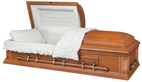 Casket: Solid Oak Wood - Rope DesignB