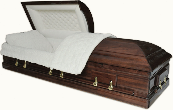 Picture of SOLID PURE WALNUT TRIBUTE Casket Casket