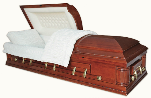Casket: WASHINGTON SOLID CHERRY Casket