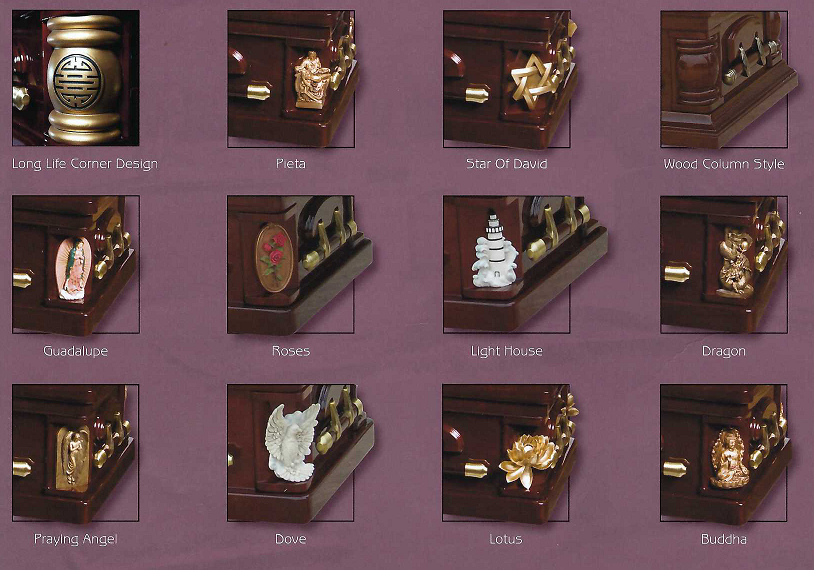 Picture of Decorative CORNER PIECES for Selection - 12 CHOICES Casket
