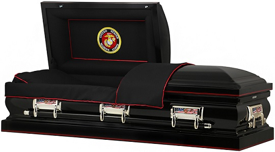 Casket: ALL BRANCHES - 32In Steel Oversize Casket