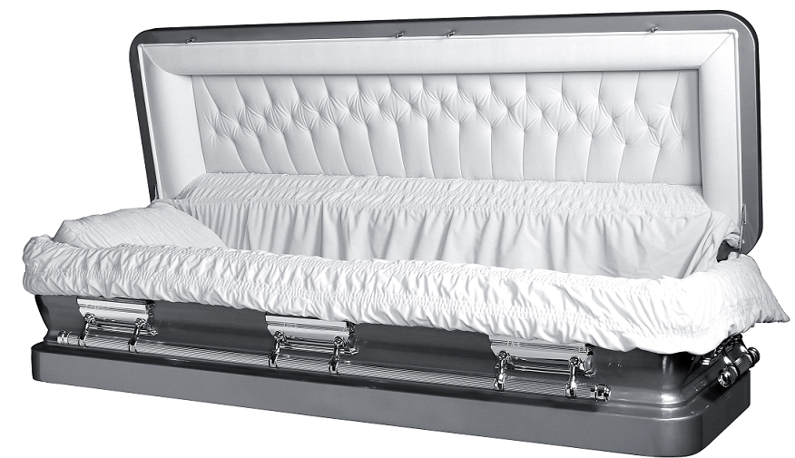 Picture of LIBERTY ROYALE SILVER Full Couch Steel Casket Casket